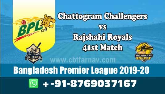 Rajshahi vs Chattogram BPL T20 41st,