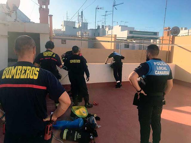 Bomberos localizan sin vida a un hombre de avanzada edad en su domicilio, Las Palmas de Gran Canaria