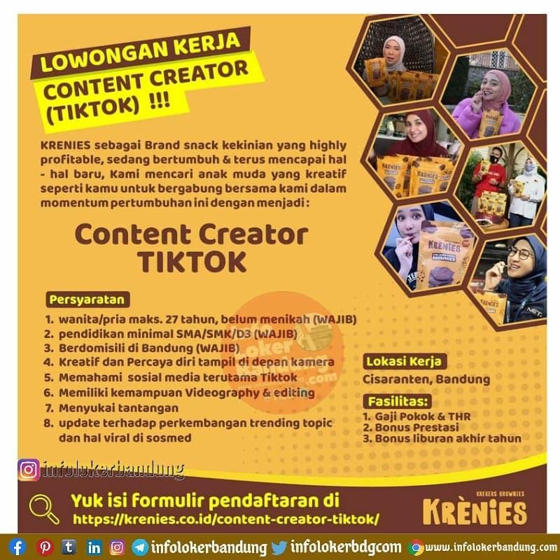 Lowongan Kerja Krenies Bandung April 2021