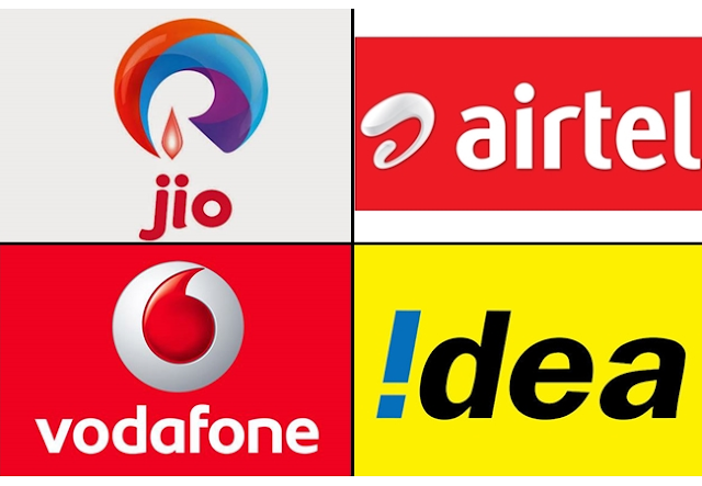 Airtel top-up plan, Reliance Jio recharge, Vodafone top-up plan, Vodafone idea prepaid plan