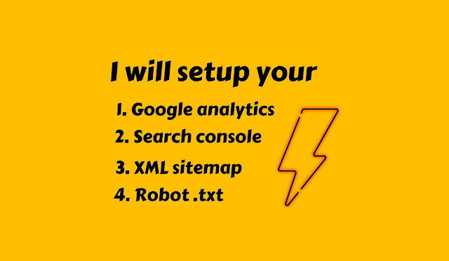 I will setup your google analytics search console and sitemap