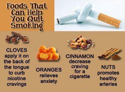 Alimenti consigliati per smettere di fumare