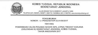 Penerimaan CPNS Terbaru Sekretaris Komisi Yudisial