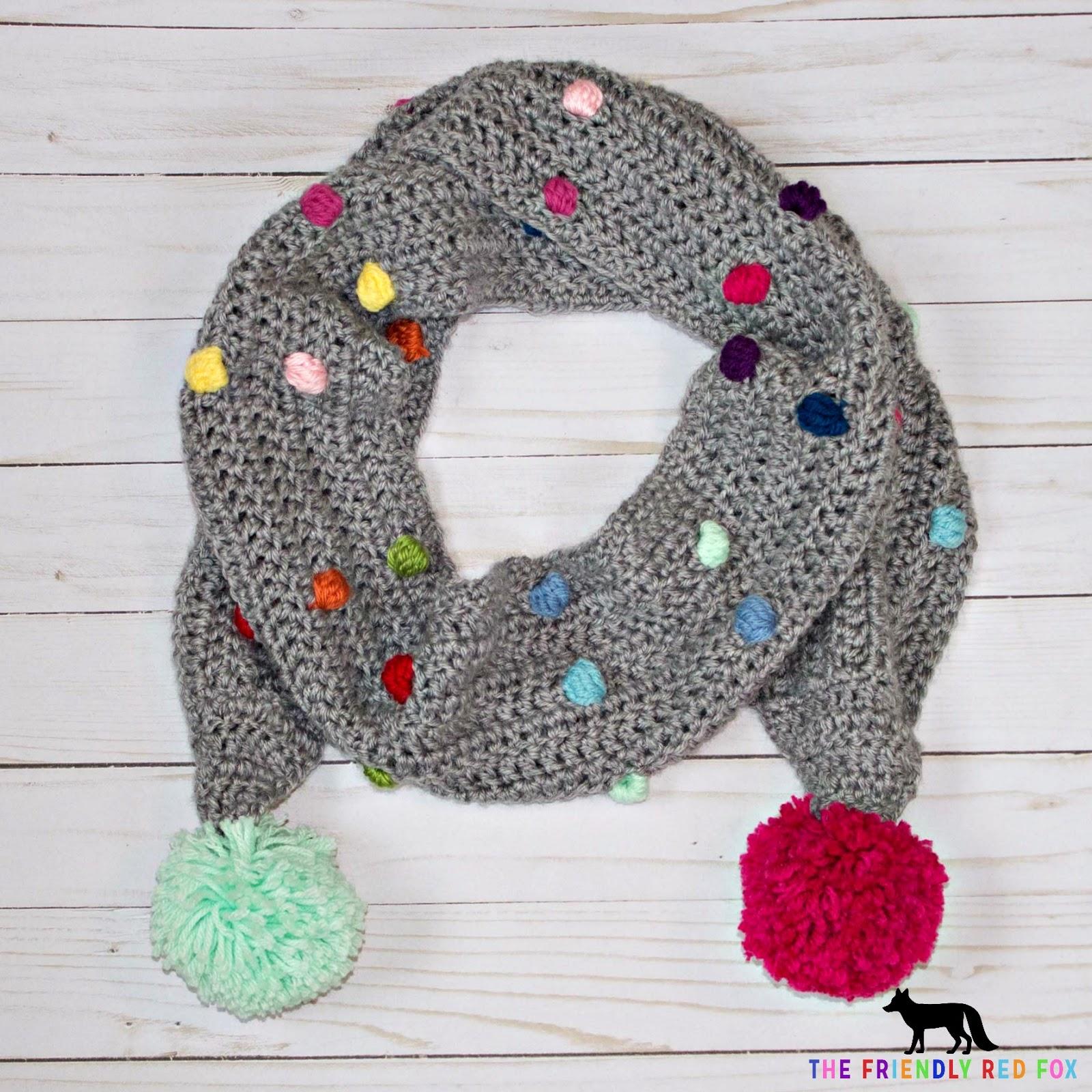 Free Crochet Pattern Fox Scarf : Free Crochet Pattern Confetti Scarf with Bobble Stitch ...