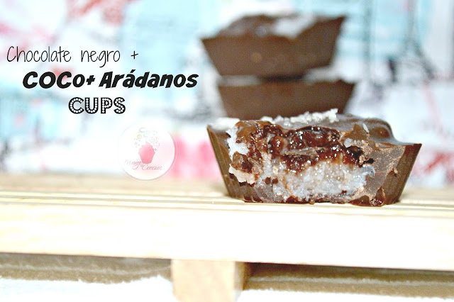 Chocolate, Coco, Arándanos