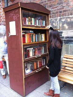 Armário literário em Hannover Altstadt