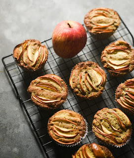 Bajra apple muffins | gluten free healthy cakes