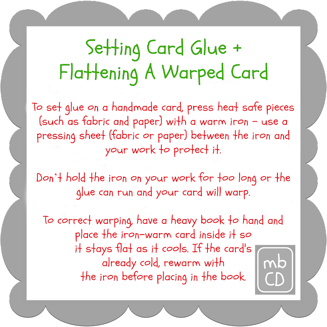 Setting Card Glue and Flattening A Warped Card