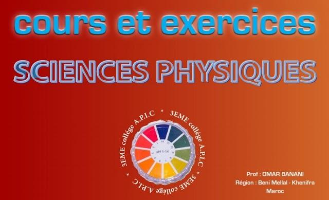 Cours et exercices de chimie - Semestre 1 et 2- 3ème année collégiale – Parcours international