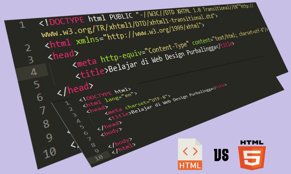 Perbedaan HTML dan HTML5 - Web Design Purbalingga