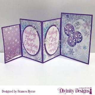 Stamps: Christmas Wishes  Custom Dies: Four Panel Card with Layers, Christmas Dove, Pinecones & Pine Branches, Ovals, Scalloped Ovals, Peaceful Poinsettias  Paper Collection: Christmas 2019