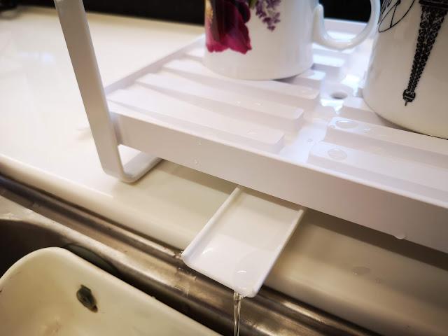 tower雙層瀝水架(白) 山崎收納 Yamazaki 廚房收納 碗盤瀝水架 排水裝置可以導流入水槽
