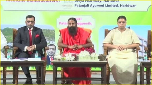 Yoga guru Baba Ramdev has claimed that the medicine he made coronil is effective in curing coronavirus, Union Minister of AYUSH Shripad Naik said that Baba Ramdev should not have announced his medicine in the media without getting permission from any ministry.