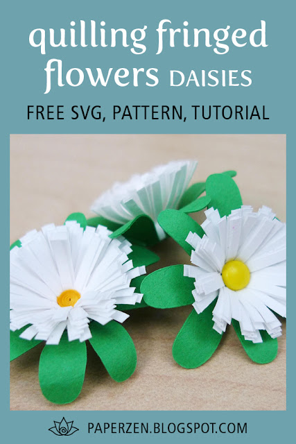 Quilling Fringed Flower Daisies Free Pattern and Tutorial