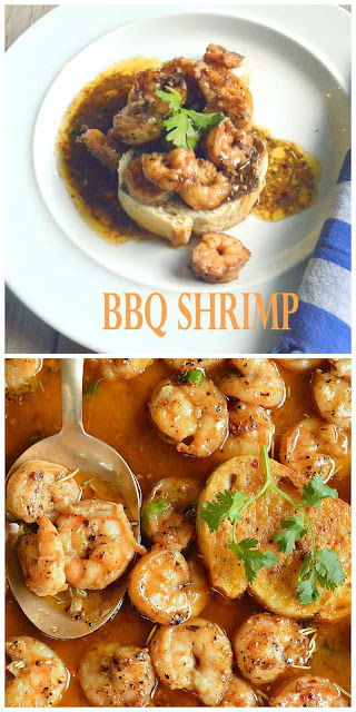 BBQ Shrimp isn't made on the grill. It's made on the stove with lots of garlic and pepper and butter. This shrimp eats butter like I eat this shrimp. The best part is it's ready to eat in less than 20 minutes!