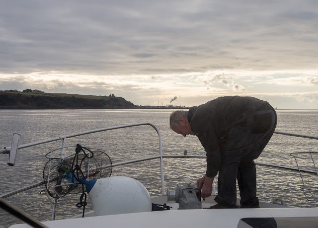 Photo of Phil dropping the anchor