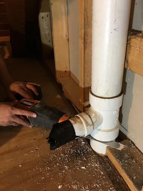 Bathroom Renovation | Vent Pipe | Log Home Cabin