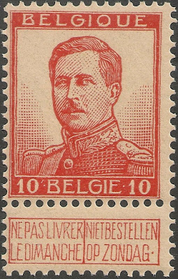 Belgium 1912-13 10c King Albert I - Larger Head