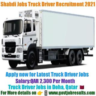 Shabdi Jobs Truck Driver Recruitment 2021-22