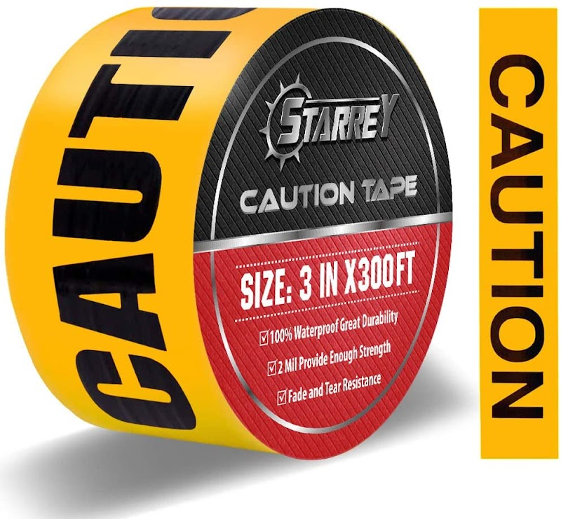 40% OFF Starrey Caution Tape 3 Inch X 300 Feet