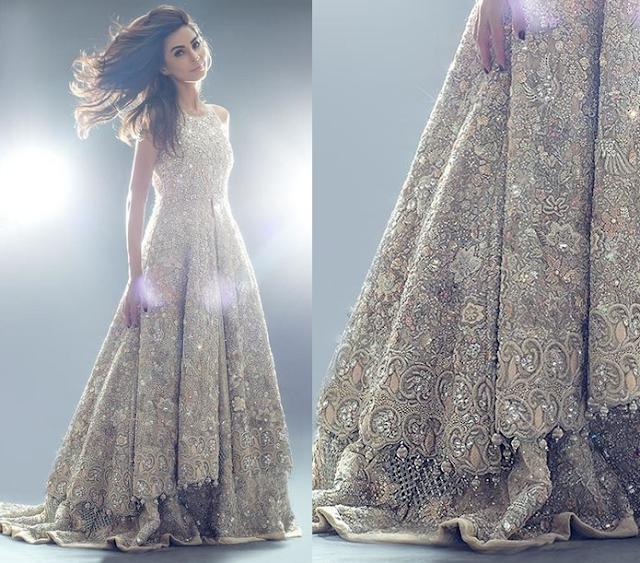 Tena Durrani Bridal Crystal Embroidered Lehanga Dresses 16/17 www.fashionwearstyle.com