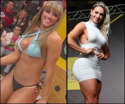 Juju Salimeni antes e depois