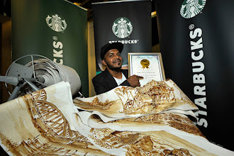 Penang Artist's Longest Coffee Painting Enters Malaysia Book of Records