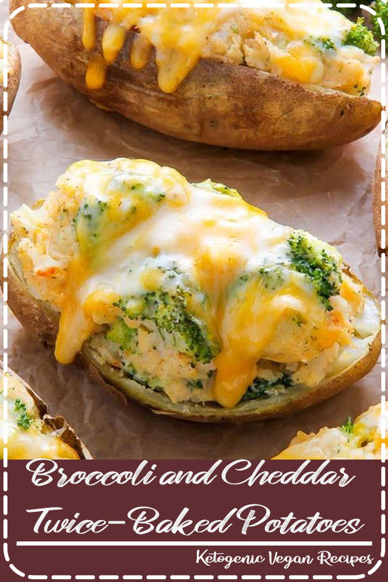 Broccoli and Cheddar Twice-Baked Potatoes are the epitome of comfort food! Add a salad to make them a full meal.