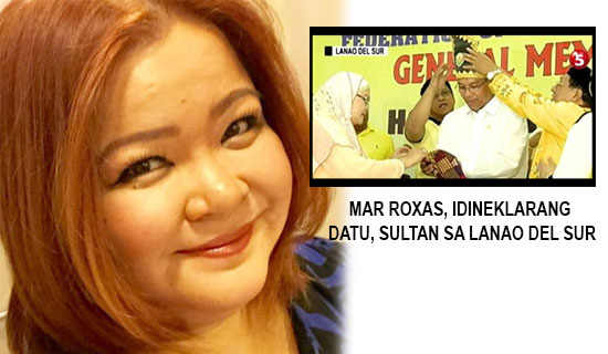 Former vice president daughter reacted to Mar Roxas as 'Datu or Sultan'