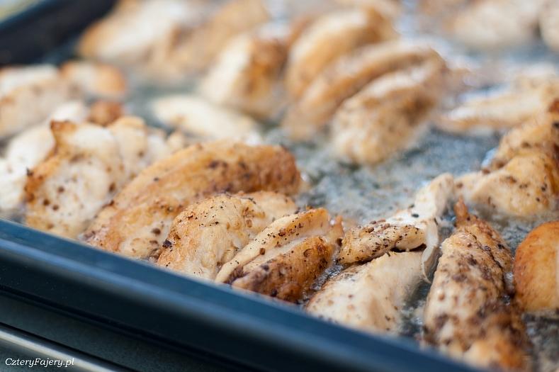 Kurczak pieczony w cydrze i puree z dyni