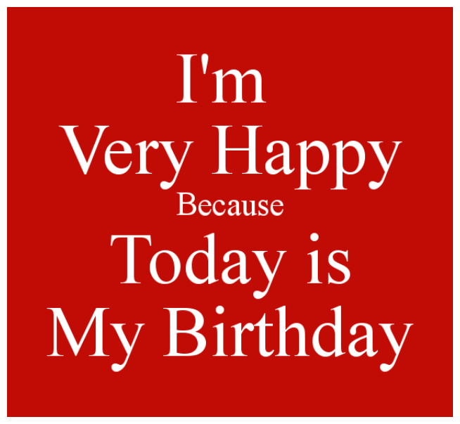 Alhamdullilah, today it's  my birthday!