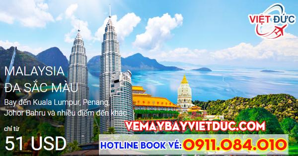 khuyến mãi Air Asia giá từ 51 usd bay đi Malaysia