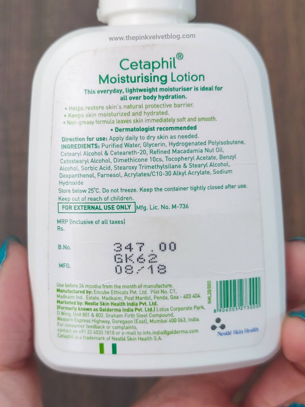 Cetaphil Moisturizing Lotion for Dry and Sensitive Skin - Review - Ingredients