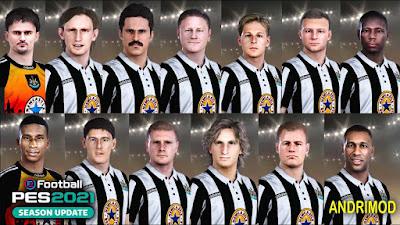 PES 2021 Classic FacePack Newcastle United by Andri Mod