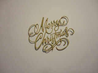 Merry Christmas die cut from kraft card