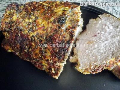 Ceafa de porc la cuptor cu mustar (imaginea retetei)
