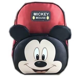 Tas Ransel Sekolah Anak TK Mickey Mouse Muka Kuping 3D TImbul