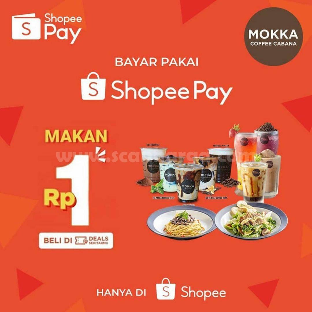 Mokka Coffee Cabana Promo Voucher Deals ShopeePay Hanya Rp 1