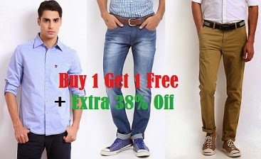 Great Deal: Buy 1 Get 1 Free Offer + Extra 38% Off on American Swan   Roadster   HRX   Mast & Harbour Clothing @ Myntra (Hurry!! Limited Period Offer)