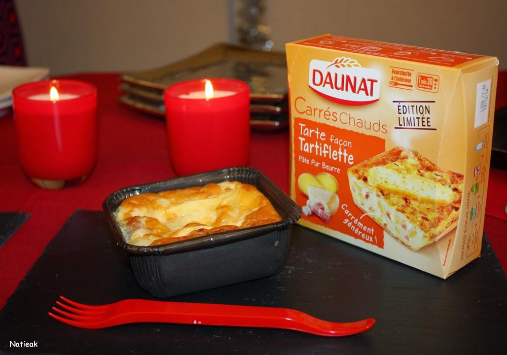 tarte façon tartiflette Les carrés chauds de Daunat