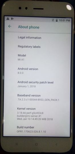 Xiaomi Mi A1 MDG2 Stock Rom Flash File CM2 Read Tested Rom Collect