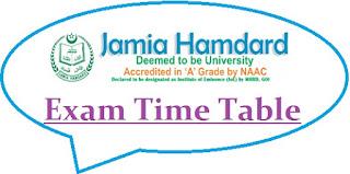 Jamia Hamdard University Exam Date Sheet 2020
