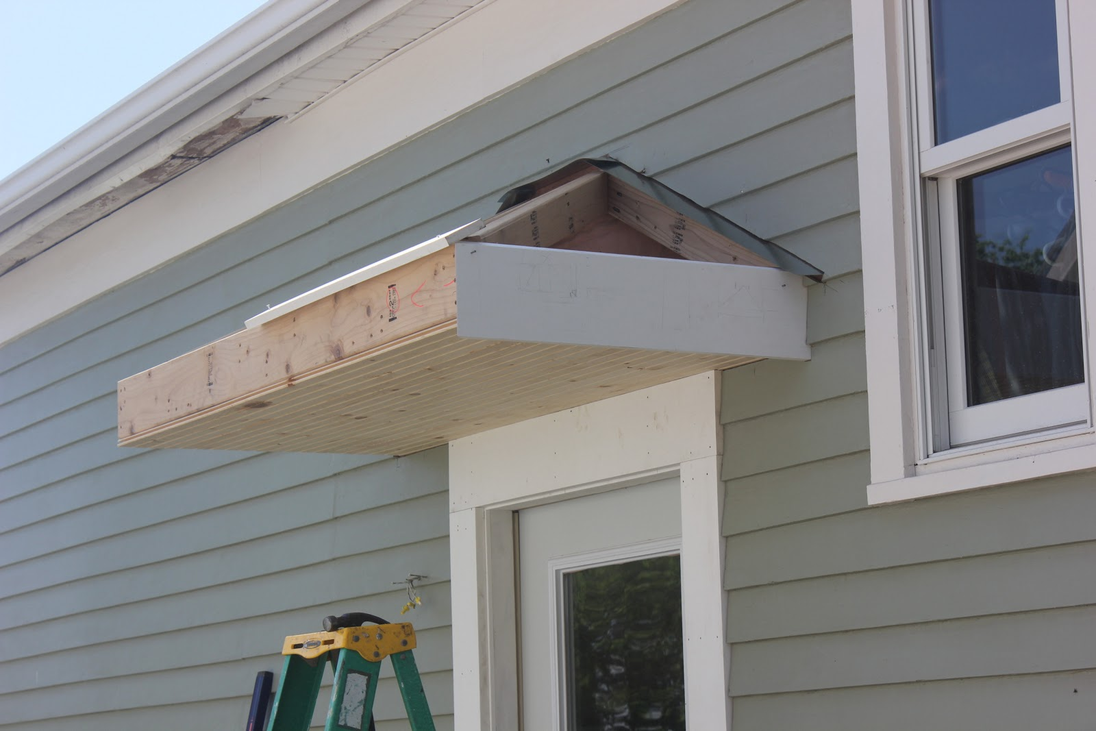 Bricks & Honey: Building the Back Door Overhang
