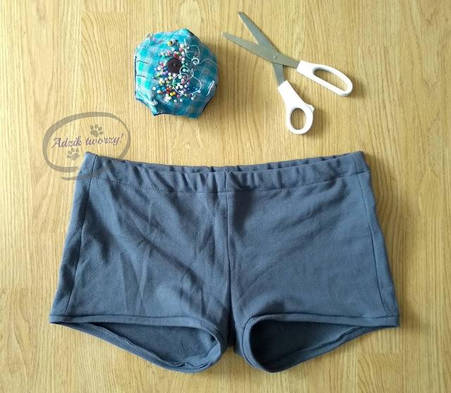 spodnie uszyte na podstawie własnego wykroju DIY - Adzik tworzy