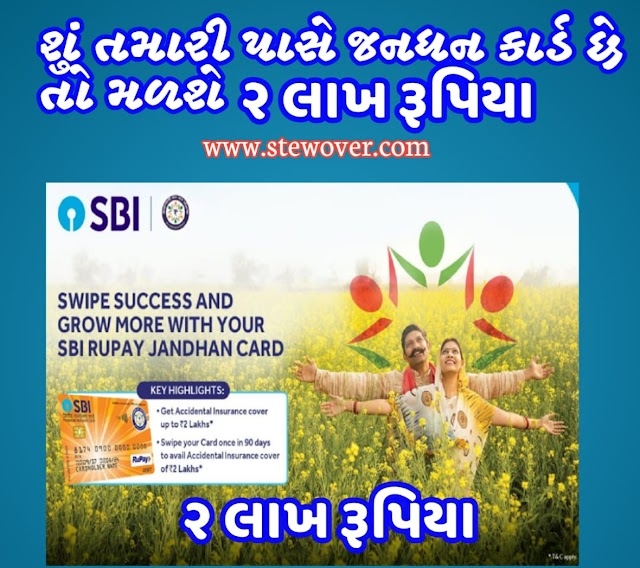 Apply today for SBI Rupay Jan Dhan Card, you will get a benefit of Rs 2 lakh.