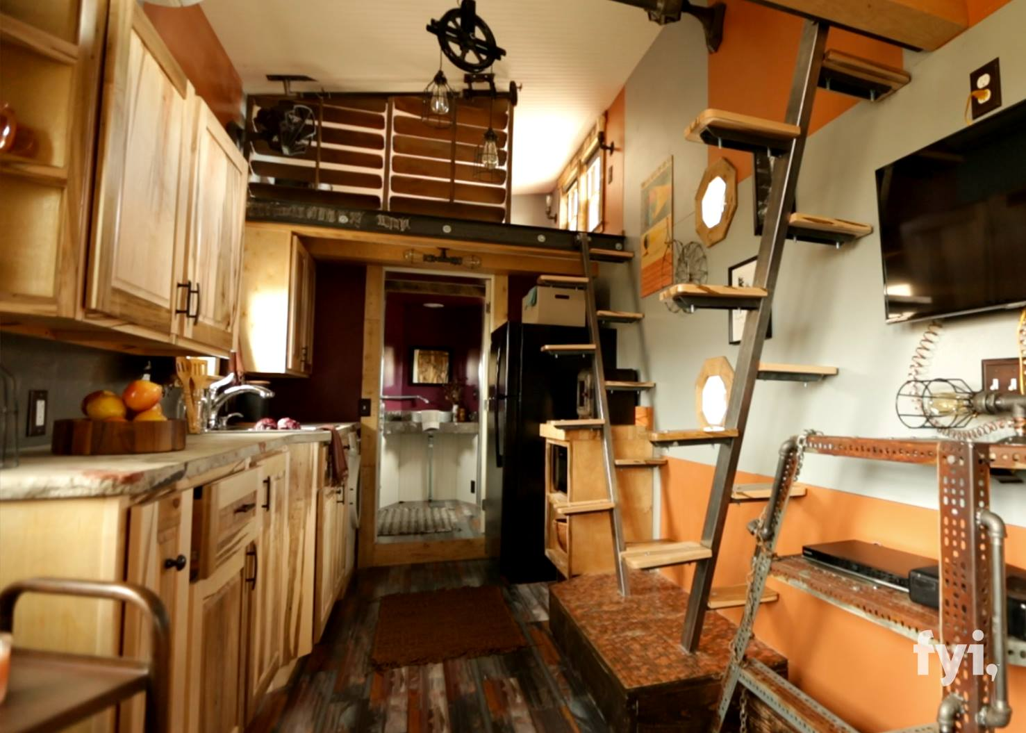 Steampunk Adventure Home 340 Sq Ft  The Homes of Tiny House Nation