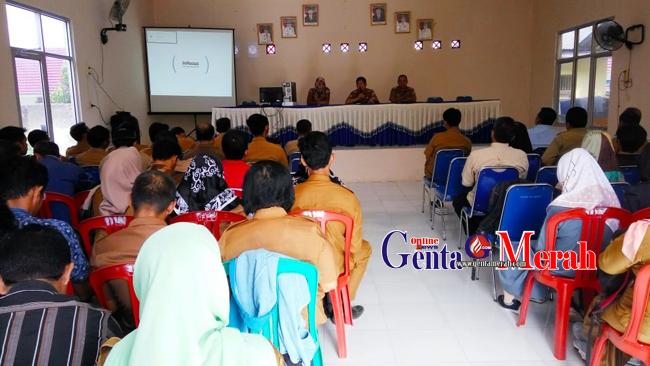 Jelang UNBK, Disdikbud Lampura Gelar Pelatihan Proktor Teknisi SMP
