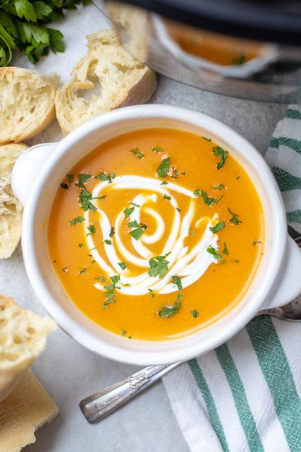Copycat Panera Bread Instant Pot Butternut Squash Soup