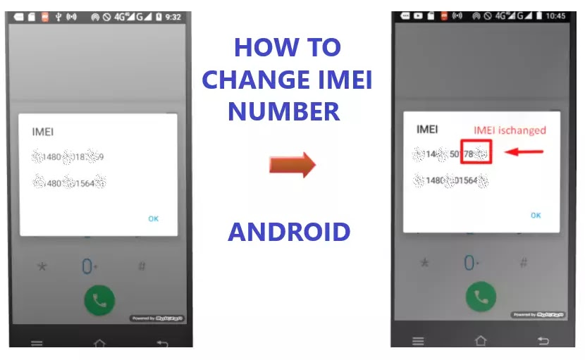 change imei number of android