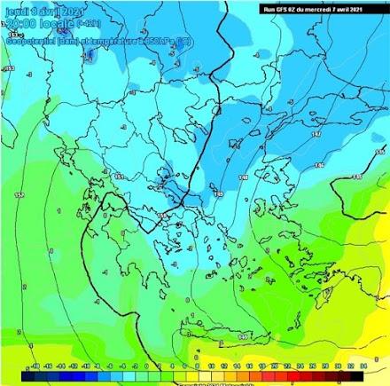 Ραγδαία πτώση της θερμοκρασίας αύριο, χιονοπτώσεις στα ορεινά της χώρας και πολύ ισχυροί άνεμοι σε όλη την Ελλάδα.